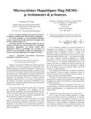 Microsystèmes Magnétiques Mag-MEMS - Solutions Cades
