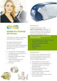 SD300 Pro Desktop Prospekt - Battlogg Design