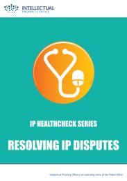 Resolving IP Disputes - Intellectual Property Office