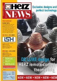 DE LUXE design for HERZ remote-control thermostats DE LUXE ...