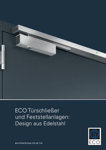 ECO Türschließer und Feststellanlagen: Design ... - ECO-Schulte.de