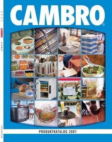 PRODUKTKATALOG 2007 - Cambro Manufacturing Company