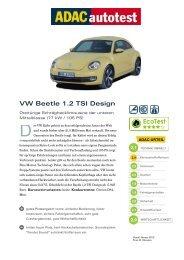 VW Beetle 1.2 TSI Design - ADAC
