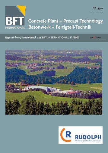 Concrete Plant + Precast Technology Betonwerk + Fertigteil-Technik