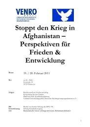 Stoppt den Krieg in Afghanistan - Aktionsgemeinschaft Dienst für ...