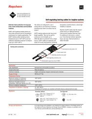 Self-regulating heating cables for longline systems - Tyco Thermal ...