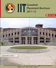 Guwahati Placement Brochure 2011-12 - Indian Institute of ...