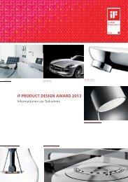 Informationen zur Teilnahme iF product design award 2013