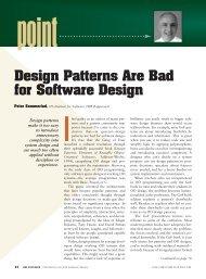 Design Patterns Are Bad for Software Design