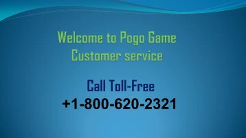 Fix issues of Pogo games with Pogo game Customer service +1-800-620-2321