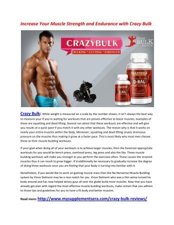 Give You Physical Health and Mental Health with Crazy Bulk
