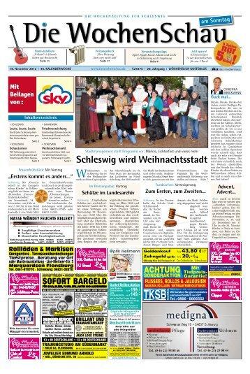 Schleswig wird Weihnachtsstadt - Die Wochenschau