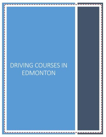 Alberta Driving School In Edmonton