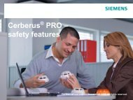 Cerberus PRO Safety Features - Fire Industry Association