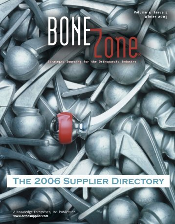 The 2006 Supplier Directory - Orthoworld