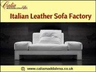 Popular Italian Leather Sofa Factory from Italy-Calia Maddalena