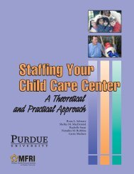 Staffing Your Child Care - Military Family Research Institute - Purdue ...