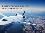 Questions to Ask Before You Choose Aircraft Charter Services