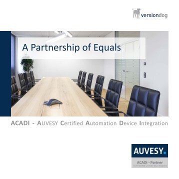 Brochure ACADI partnership program