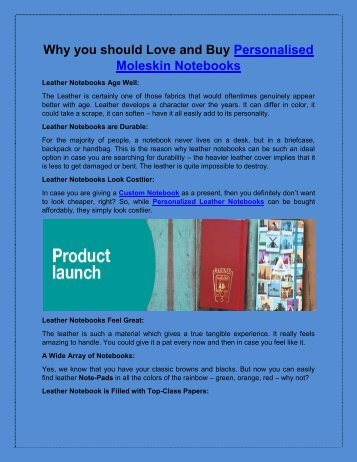 Why you should Love and Buy Personalized Leather Notebooks