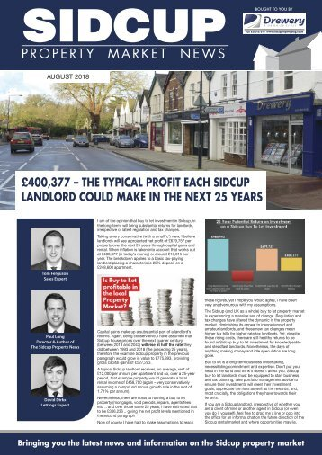 SIDCUP PROPERTY NEWS - AUGUST 2018