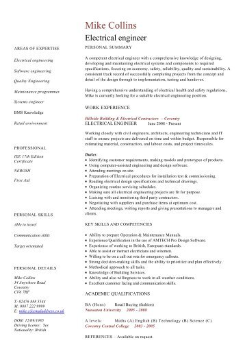 Retail manager cv template resume dayjob electrical engineer cv template dayjob yelopaper Image collections