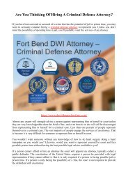 Are You Thinking Of Hiring A Criminal Defense Attorney?