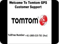 Tomtom map updates support number + 61-1800-215-732