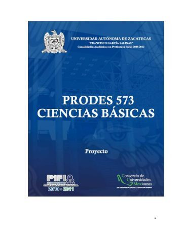 ProDes 2011 - Universidad Autónoma de Zacatecas