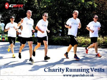 Charity Running Vests Get on Gear Club Online Store