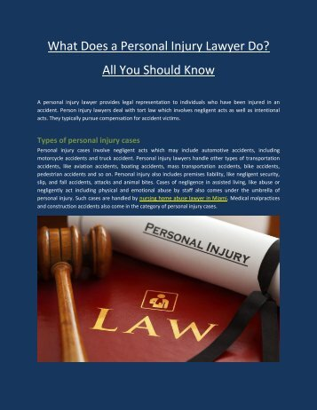 What Does a Personal Injury Lawyer Do? All You Should Know