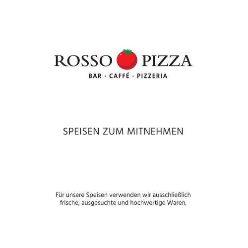ROSSO PIZZA München – Speisekarte