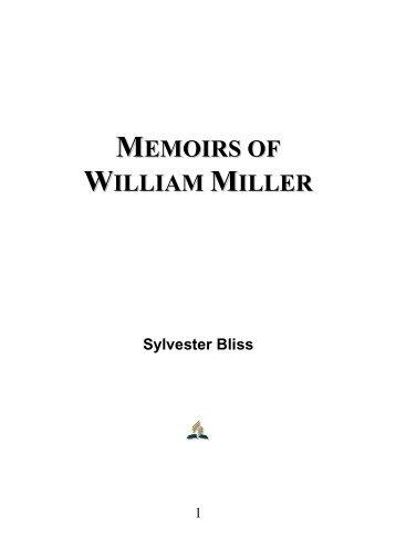 Memoirs of William Miller - Sylvester Bliss