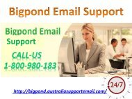 Obtain Skilled Team's Support At Bigpond Email 1-800-980-183