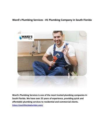 Ward's Plumbing Services - #1 Plumbing Company in South Florida