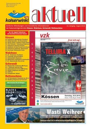 Kaiserwinkl aktuell 8/2018