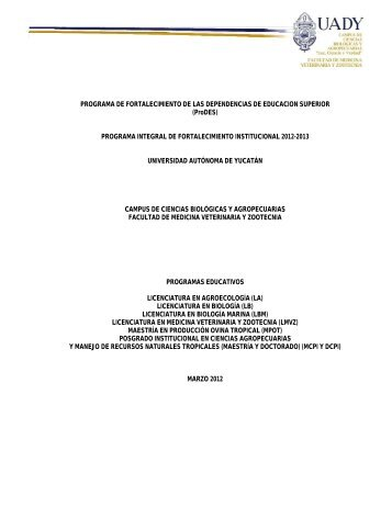 Programa Integral de Fortalecimiento Institucional 2012-13