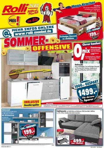 Sommer-Offensive bei ROLLI SB Möbelmarkt in 65604 Elz bei Limburg