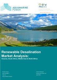 Renewable desalination market analysis - Oceania South Africa ...