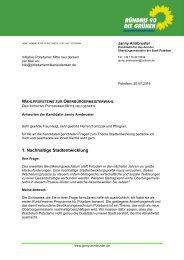 Wahlprüfsteine PMND Janny Armbruster Die Grünen