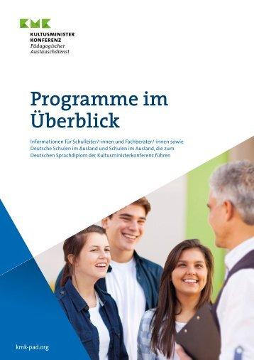 Programme im Überblick