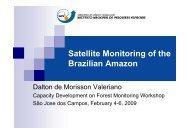 Satellite Monitoring of the Brazilian Amazon - DPI - Inpe