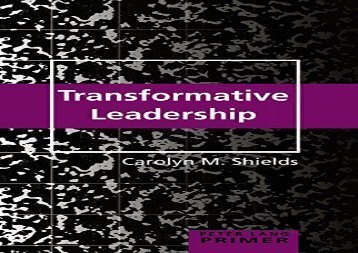 [+][PDF] TOP TREND Transformative Leadership Primer (Peter Lang Primer)  [DOWNLOAD]