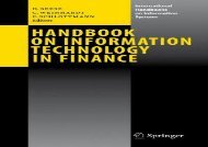 [+][PDF] TOP TREND Handbook on Information Technology in Finance (International Handbooks on Information Systems) [PDF]