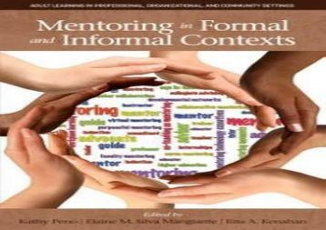 [PDF] Mentoring in Formal and Informal Contexts (Adult Learning in Professional, Organizational, and Community Settings) kindle ready