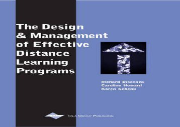 Audiobook The Design and Management of Effective Distance Learning Programs epub ready