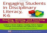 [PDF] Engaging Students in Disciplinary Literacy, K-6: Reading, Writing, and Teaching Tools for the Classroom (Common Core State Standards for Literacy Series) kindle ready