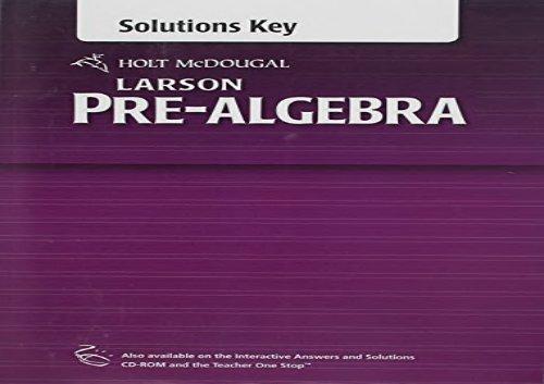 PDF~ Holt McDougal Larson Pre-Algebra: Common Core Solutions