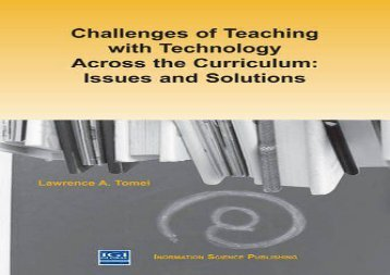 #PDF~ Challenges of Teaching with Technology Across the Curriculum: Issues and Solutions kindle ready