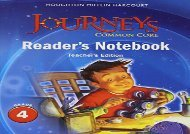 Audiobook Houghton Mifflin Harcourt Journeys: Common Core Reader s Notebook Teachers Edition Grade 4 Full Ebook